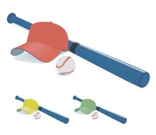 Coloridos gráficos vectoriales equipo de béisbol