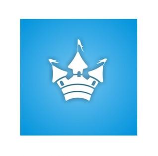 Lindo castillo vector icono del diseño
