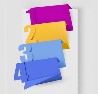 El número de vectores de origami establecen