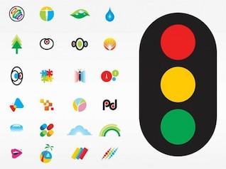 Colorido creativo logotipos conjunto de vectores