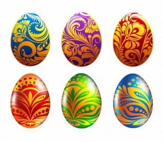 Huevo de Pascua icono conjunto
