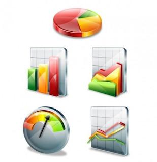 colorido estilo gráfico de vector icono