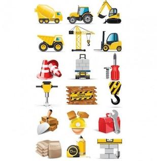 maquinaria Pack de iconos vectoriales
