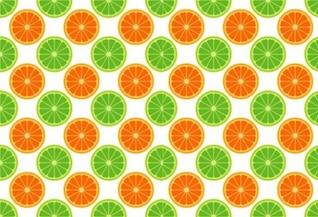 Sin patrón con limas y naranjas