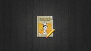 Libro y el icono del lápiz
