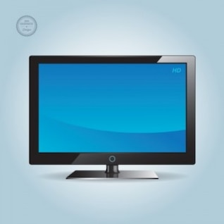 Amplia pantalla azul hd tv vector