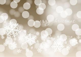 Luces y copos de fondo de Navidad