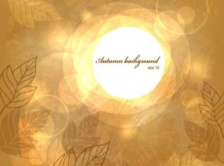 La luz de fondo goldish con las líneas de las hojas ilustración
