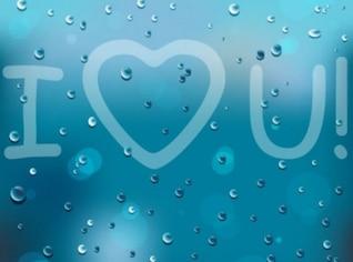 Te quiero en vidrio mojado