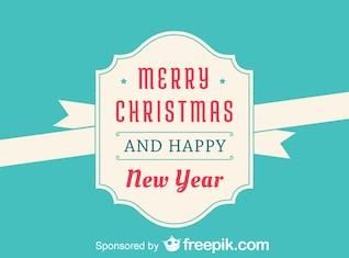 Feliz navidad y año nuevo y feliz