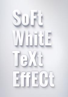 3d efecto de texto en blanco psd