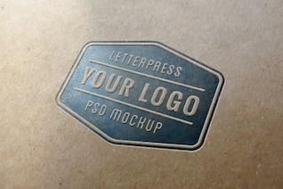 Azul tipografía logo maqueta