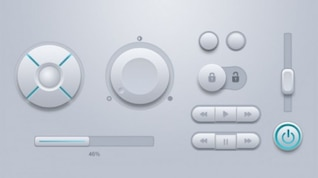 Kit ui botones de volumen blanco