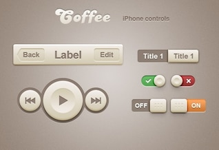 Iphone app controles de navegación estilo café