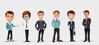 Personajes de dibujos animados de negocios