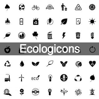 200 pack de iconos ecología