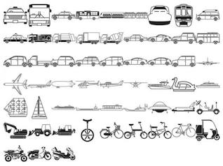 varios elementos del bosquejo de los elementos del vector de material de clase de tráfico