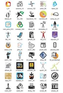 muestras de conjunto de vectores de iconos de negocios