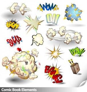 comúnmente utilizado en los dibujos animados a los elementos de material de vectores
