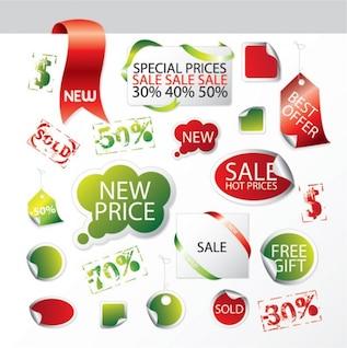 descuento sobre ventas de utilidad icono de los elementos decorativos vector de material