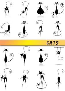 {} Gato de dibujos animados de vectores