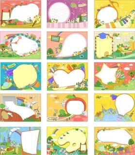 Corea del dibujo animado de fantasía colección de material de