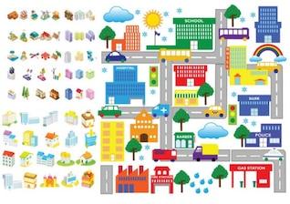 Vector de dibujos animados icono arquitectónico