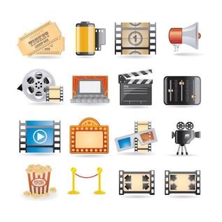 película icono material de vectores