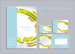 folleto extranjera de diseño vectorial