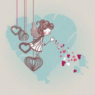 de dibujos animados de San Valentín ilustración vectorial
