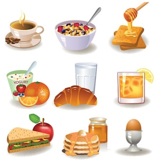Desayuno vector de imagen