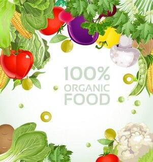 verduras fondo vector de material