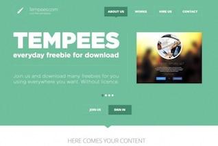 Encabezado verde web diseño plano