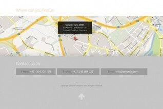 Contacto pie de página con toda mapa