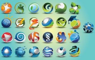 Vectores diferentes esferas 3d