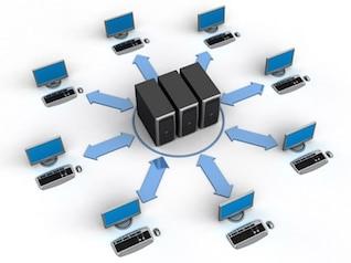 d equipo que se conecta la red de material de imagen