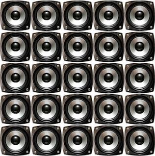 foto de la pared del altavoz calidad de los materiales