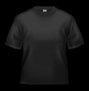 negro en blanco, camiseta, material de imagen