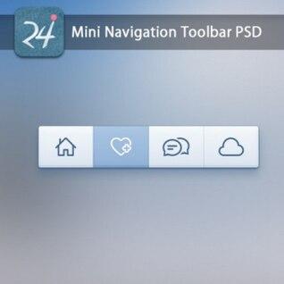 La barra de herramientas de navegación elementos de diseño web