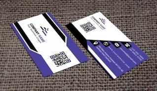 Plantilla de tarjeta de visita púrpura