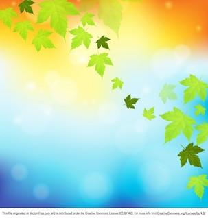 Hojas de otoño que caen fondo de la naturaleza