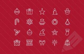 Fina colección de iconos de la Navidad