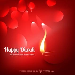 El festival indio de tarjetas de felicitación de Diwali