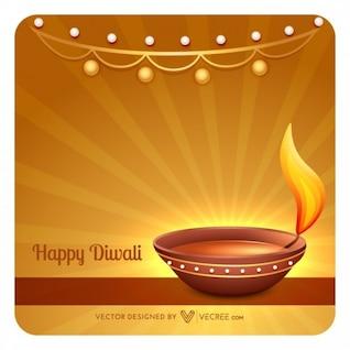 Diwali feliz celebración de fondo