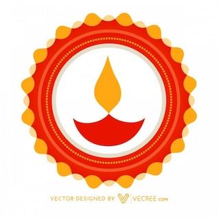 Colorida celebración de Diwali con las llamas
