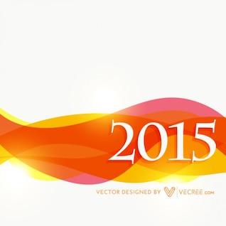Nuevo año 2015 con la onda colorida