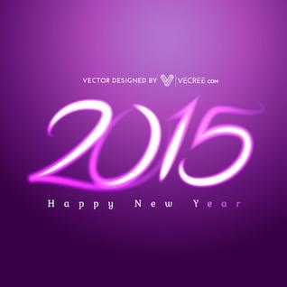 Feliz año nuevo 2015 de color púrpura