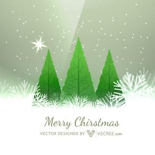 Fondo de Navidad con árboles de Navidad