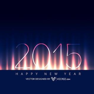 Tarjeta creativa nuevo año 2015 saludo