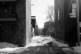 Nieve en la calle
